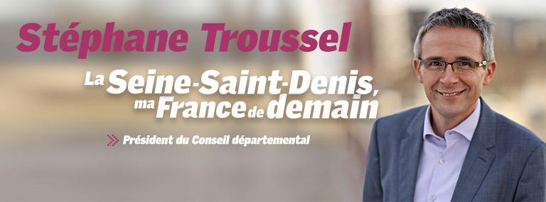 Stéphane Troussel, président du conseil départemental